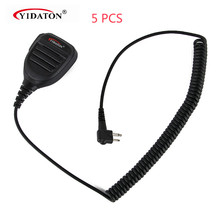 5pcs New M Plug Rainproof 2-Pin Shoulder Remote Speaker Mic-rophone PTT For Motorola Radio PMR446 PR400 Mag One BPR40 A8 EP450