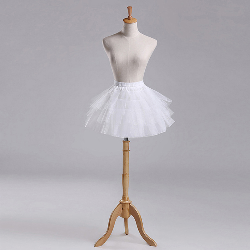2Sizes White Or Black Short Petticoats 2018 Women Underskirt For Wedding Dress Jupon Cerceau Mariage Skirt