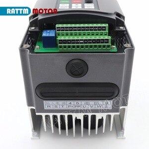 "Image 5 - כיכר 3KW אוויר מקורר ציר מנוע ER20 18000 סל""ד 300Hz 4 מסבים & 3kw VFD 220V מהפך עבור CNC נתב חריטת כרסום"