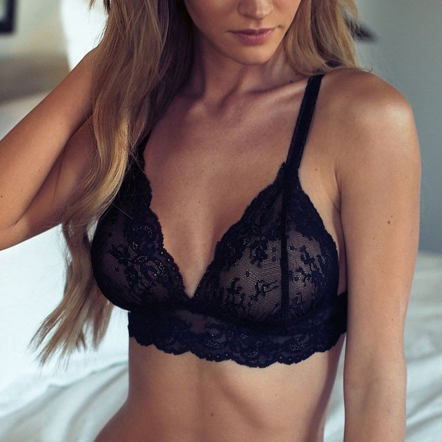 New Sexy Women Unpadded Intimates Tops+Underpants Floral Lace Bra Sets Briefs Underwear Sets G28
