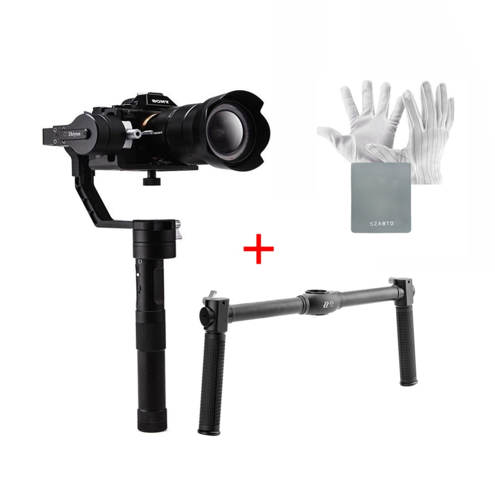 Zhiyun Crane V2 3 Axis Brushless Handheld Gimbal Stabilizer with Dual Handle for Mirrorless Camera Sony A7 Series Panasonic LUMI [hk stock][official international version] xiaoyi yi 3 axis handheld gimbal stabilizer yi 4k action camera kit ambarella a9se75 sony imx377 12mp 155‎ degree 1400mah eis ldc sport camera black