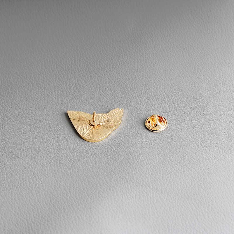 Gioelleria raffinata e alla moda Spilli Spille Uccello Con Foglie Verdi Spilla Coppia Smalto Spille Distintivi e Simboli Zaino Accessori Per Gli Amanti del Regalo Dei Monili