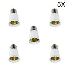 MUMENG 5pcs Big Promotion  B22 to E27 Lamp Socket Base Converter Splitter Adapter Fireproof Material Converter Socket