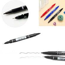 Перманентный маркер двуглавый крюк линии тонкой/Толстая ручка чернильный инструмент водонепроницаемый W15