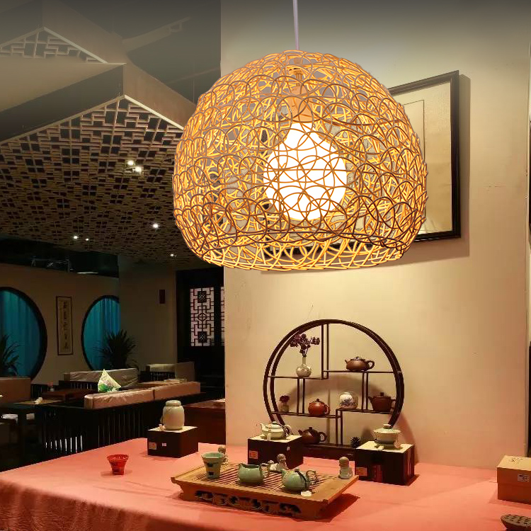 rattan aisle study teahouse Bamboo rattan Pendant Lights balcony Simple Art bar restaurant Chinese  ZA a1 bedroom pendant lights lighting balcony restaurant rattan bar chinese retro pastoral bamboo rattan lamp