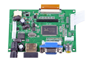 Image 2 - 7 pollici HD Display LCD Schermo Monitor Ad Alta Risoluzione Scheda di Controllo del Driver HDMI VGA Per Lattepanda Raspberry Pi Banana Pi