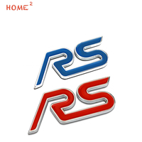 For RS Logo Metal Car Sticker For Ford Mondeo Kuga Mustang Audi A3 A4 A5 SPORT