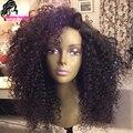 Бразильский вьющиеся волосы парики 100% человеческих волос фронта с ребенком волос Glueless парик / Lacefront парики для черной женщины