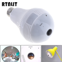 1 3MP LED Bulb Light 360 Degree Panoramic Wi Fi Lamp Home Shop Security Fisheye Camera