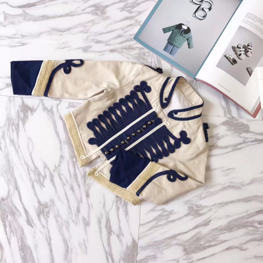 Children Fashion Autumn Clothes Boy Court Style Jacket Kids Boys Jazz Set High Quality Boys Cotton Outerwear Coat Custom Made fashion handpainted palm sea sailing pattern hot summer jazz hat for boys