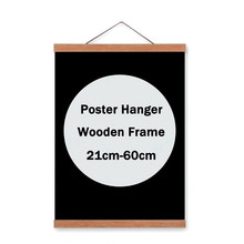 DIY Magnetic Poster Hanger Photo Picture Large Wooden Frame for Canvas Wall Art Print Painting Black White Simple Poster Frame(China)