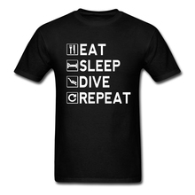Mens Eat - Sleep - Dive - Repeat T-Shirt iron lettersstyles