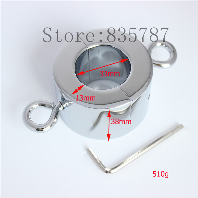 Metal Testicle Ball Stretcher Testicular Restraint Weight Scrotum Stretcher Cock Lock Device 500g C86