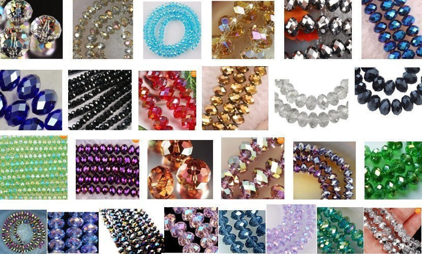 DD Wholesale 27 colors <font><b>3x4mm</b></font> <font><b>Crystal</b></font> Faceted Roundel Loose Beads Gems 5040 1000pcs #@ image