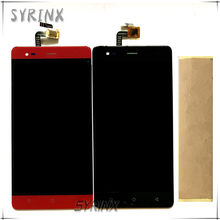 Syrinx With Tape Moible Phone LCD Display For Pretigio Grace R5 LTE psp5552 psp 5552 duo Touch + LCD Screen Assembly Replacement(China)