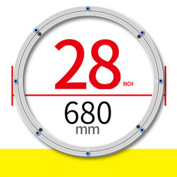 SS H28INCH/68 CM OD Anti Skid Weiche Gummi Tipps Verdicken Material Aluminiumlegierung Tabelle Schwenk Basis Plattenspieler Faul Susan