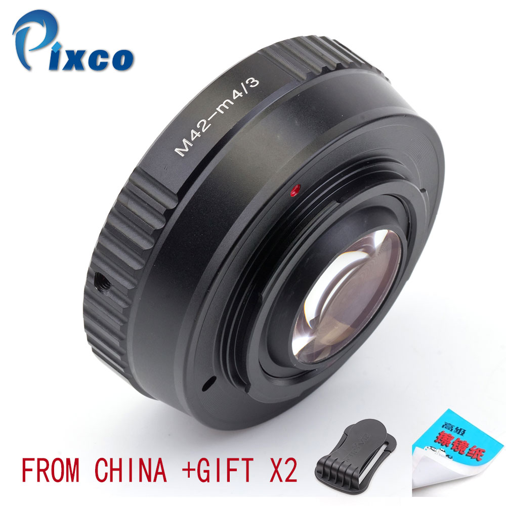 Pixco M42-M 4/3 Booster de vitesse réducteur de focale adaptateur de lentille costume pour objectif M42 pour convenir pour Micro quatre tiers 4/3 caméra livraison directe