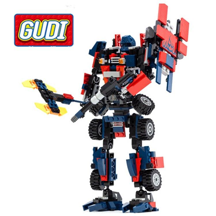 Gudi Transformé série Optimus Robot Enfants de Modèle de Bloc de Construction Assemblage Intéressant et Intelligente Jouets Aucune boîte