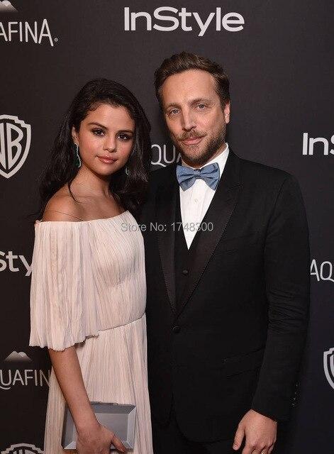 Selena Gomez Weg Von Der Schulter Puffy Sleeve Sexy Celebrity Dress ...
