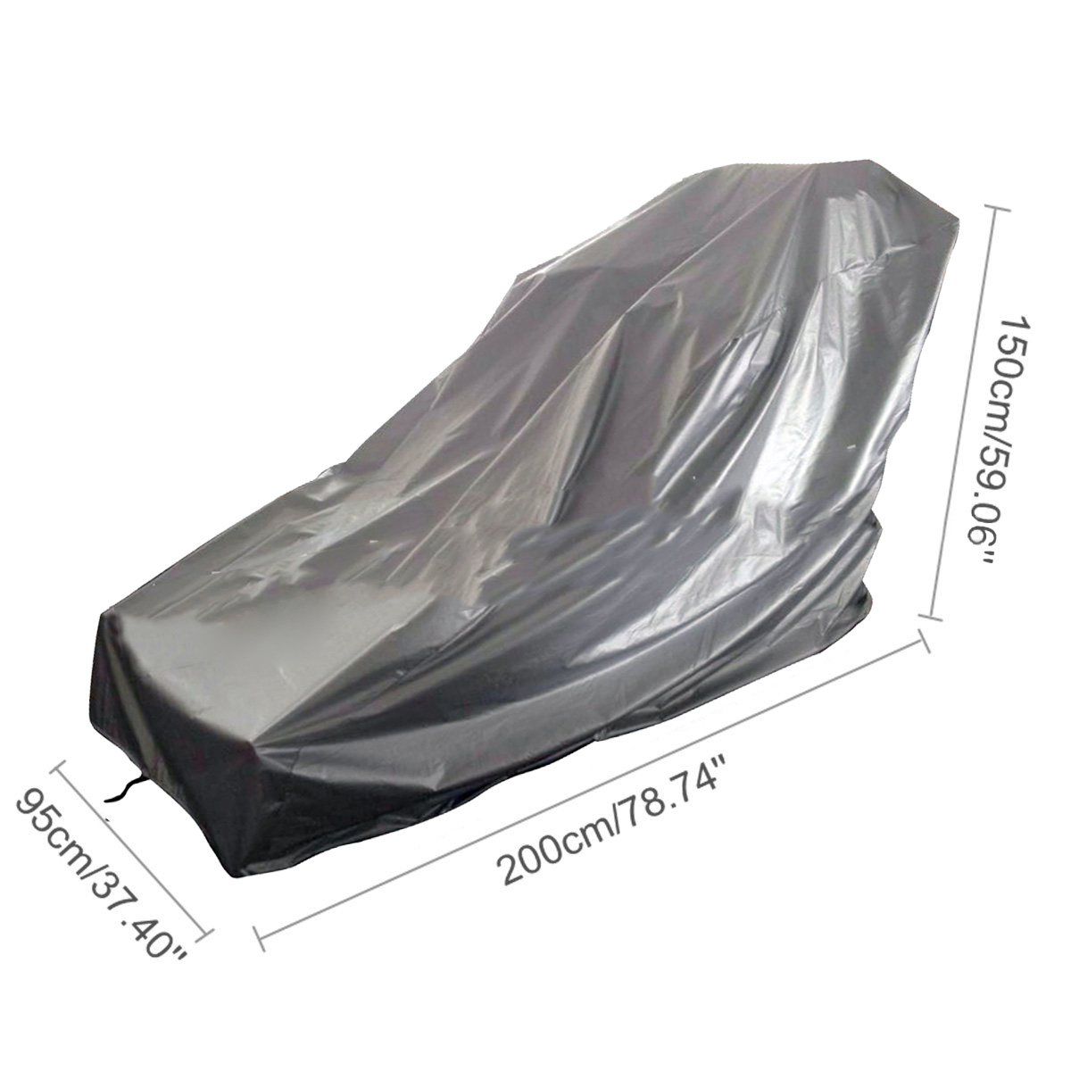 200*95*150cm Weatherproof Cover Gray Family Gym Anti-ultraviolet Equipment