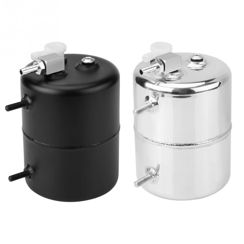 1Set Aluminium Alloy Oil Catch Tank Breather Universal 2L Vacuum Brake Compact Baffled Vacuum Reservoir Tank