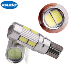 Aslent 2PCS Car Styling Auto LED T10 Canbus 168 194 W5W 10 SMD 5630 Light Bulb No Error Door Parking Side