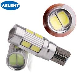 Aslent 2 pièces voiture style voiture Auto LED T10 Canbus 168 194 W5W 10 SMD 5630 ampoule pas d'erreur porte lumière Parking voiture côté lumière