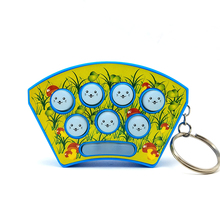 Electronic Educational Toys Whack Hamster Fight Whack-A-Mole Game Console Key Chain Kids Baby Handheld Portable Game Console