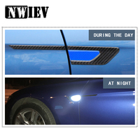 NWIEV Car Styling For VW Polo Jetta Toyota Corolla Mercedes W203 Saab Renault Fender 3D Emblem Stickers Reflective Accessories