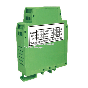 Flowmeter pulse frequency signal to 0-5V voltage or 4-20mA current signal isolating transmitter