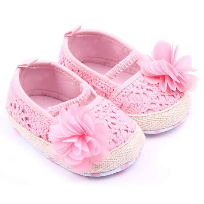 New Baby Infant Girl Soft Sole Anti-slip Crochet Knit Newborn Breathable Knitting Fretwork Slip-on Shoes 0-12M P4