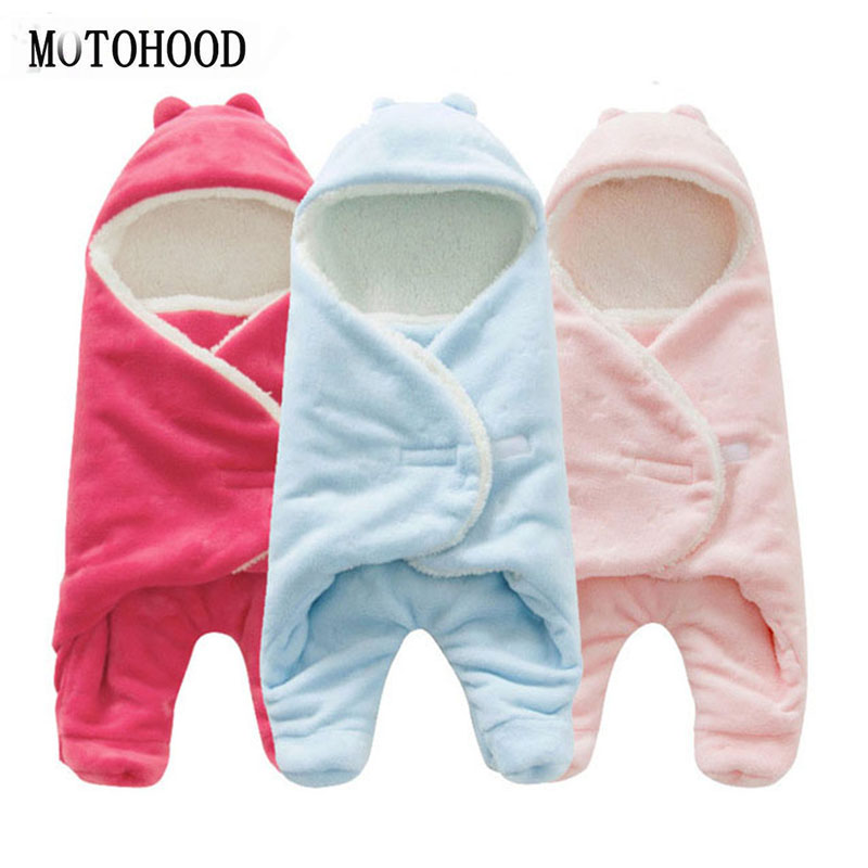MOTOHOOD Autumn Winter Baby Boys Girls Blanket Wrap Sleeping Bag For Newborns Baby Blanket Quilt Warm Wrap For Baby Girls Boys