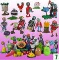 Горячие продажи Plants vs Zombies ПВХ Фигурки 2.5-6.5 см ПВЗ 40 шт./компл. Коллекция Цифры Игрушки Подарки завод + зомби виниловые куклы