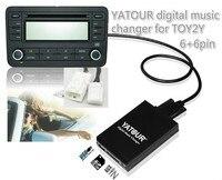 Car audio dla SCION Yatour/LEXUS/Toyota Małe 6 + 6 wtyczki Muzyki Cyfrowej zmieniarki CD USB SD Blueooth z Mp3 AUX adapter interfejsu