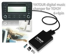 Yatour car audio for SCION/LEXUS/Toyota Small 6+6 plug Digital Music CD changer USB SD AUX Blueooth with Mp3 adapter interface