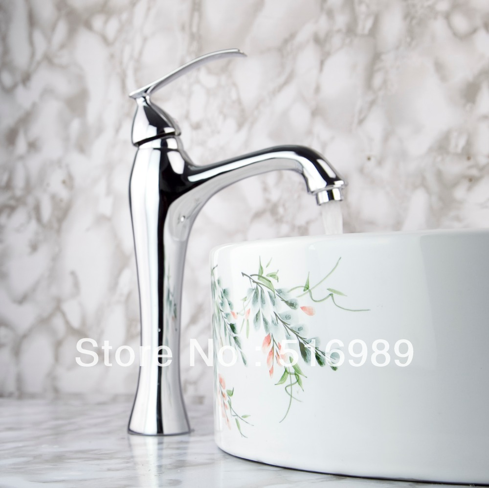 Waterfall faucets Bathroom Chrome Deck Mount Single Handle Wash Basin Sink Vessel Torneira Tap Mixer Faucet n11 8471 4 single handle cold stream deck mount single handles wash basin sink vessel kitchen torneira cozinha tap mixer faucet