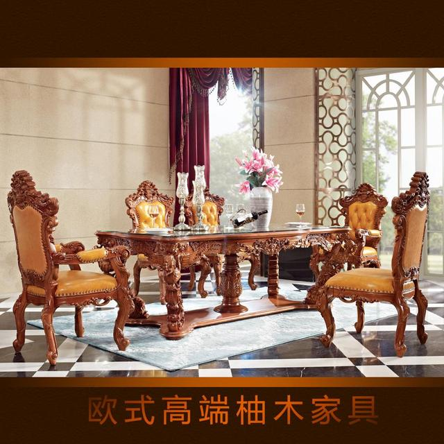 Jinyufang European Style High Style Teak Table Dining Chair Table