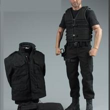Mnotht 1 6 Jason Statham conjunto traje negro macho Solider servicio  secreto ropa con capa camiseta botas sombreros para 12in fi. e927900fe31
