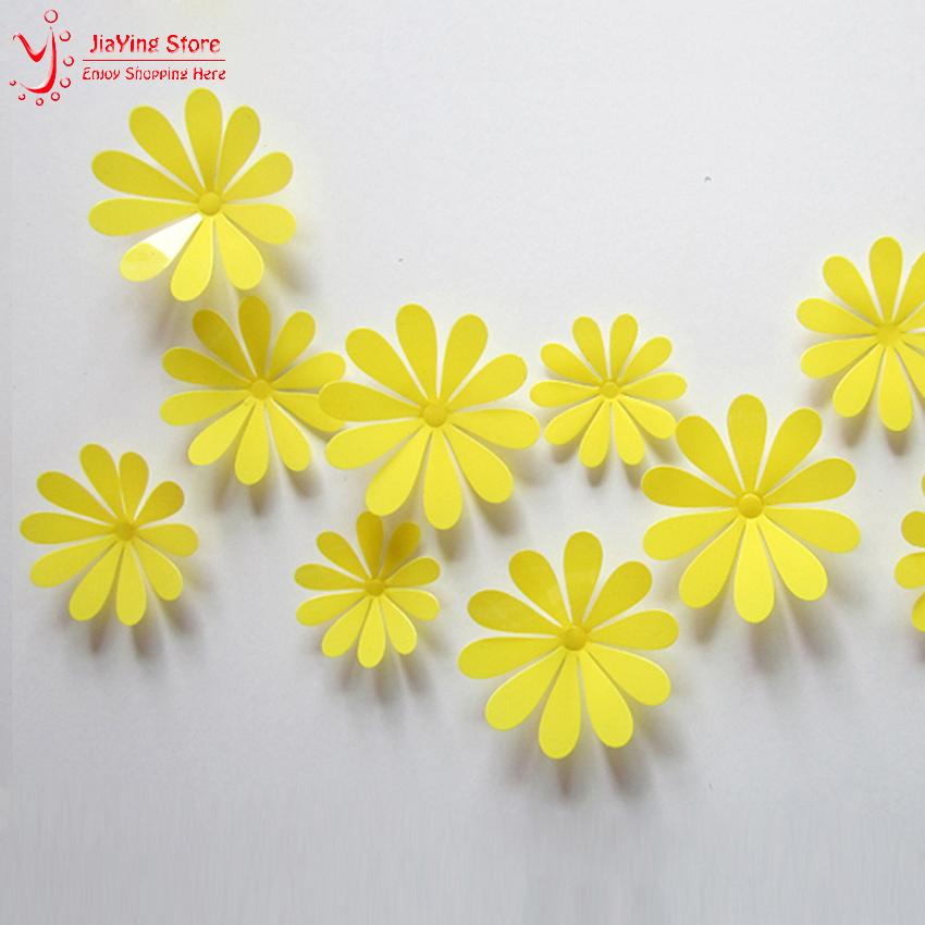 Wall Flower Decor flower decoration on wall - decorative flowers