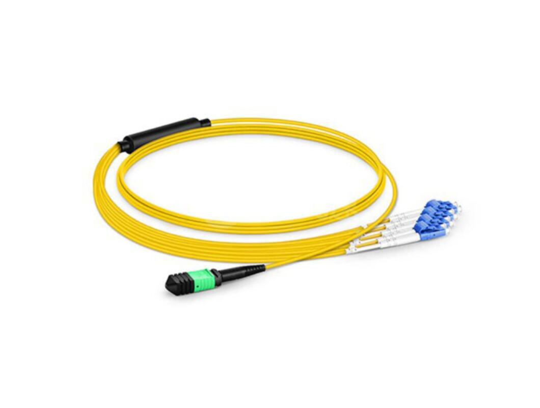 2M LC UPC to ST UPC Duplex OM4 Multimode 3.0mm Fiber Optic Patch Cord Cable