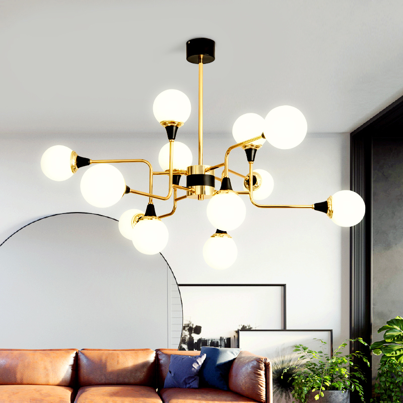 Modern Nordic Chandeliers Metal Glass Ceiling lamps LED Hanglamp For Living Dinning Room Kitchen lustre Lighting chandelier