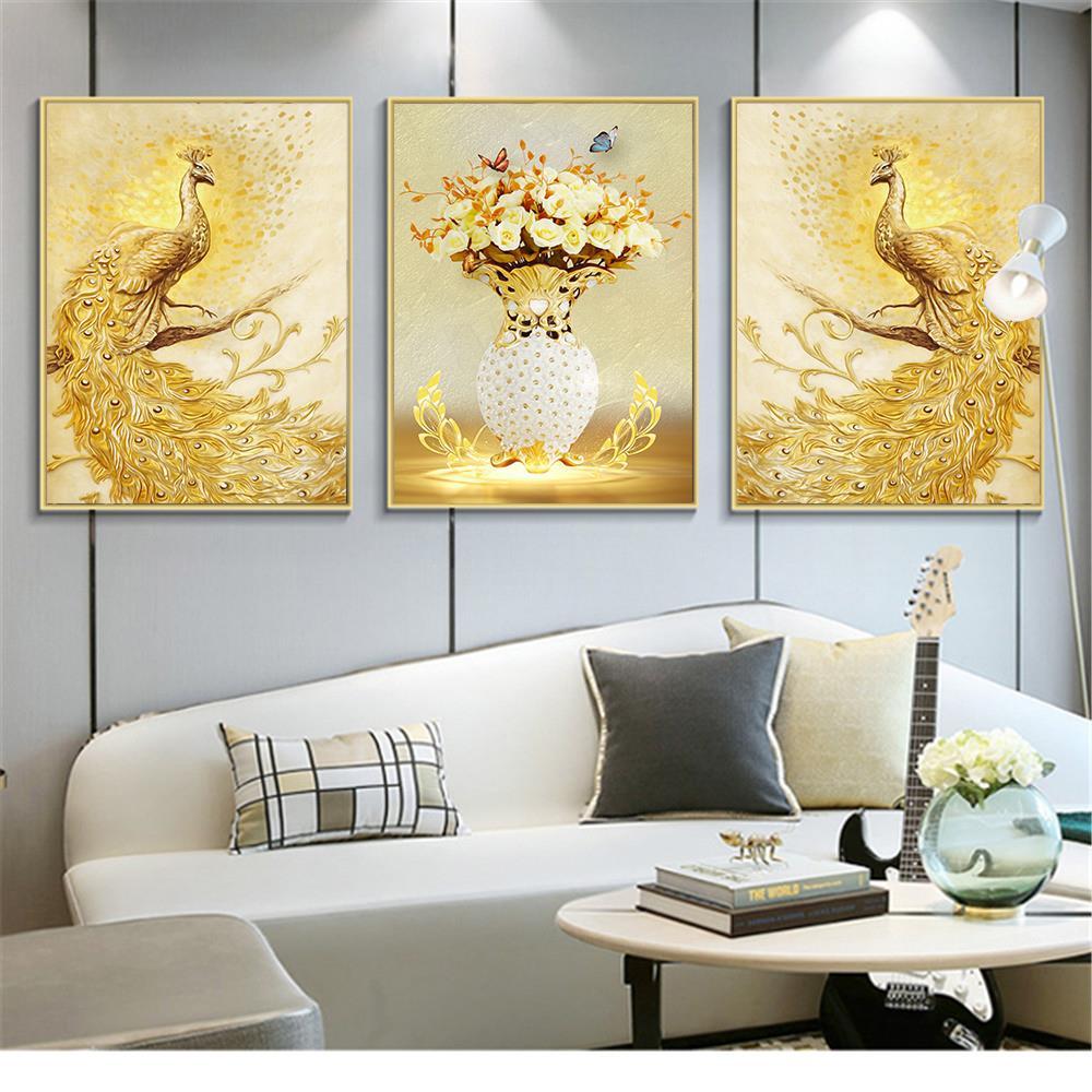 ShineHome 3pcs Wall Art Canvas Printed Painting Triptych Spa Salon ...