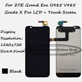 Black LCD+TP For ZTE Grand Era U985 V985 Grade X Pro LCD Display + Touch Screen Digitizer Assembly Smartphone Replacement