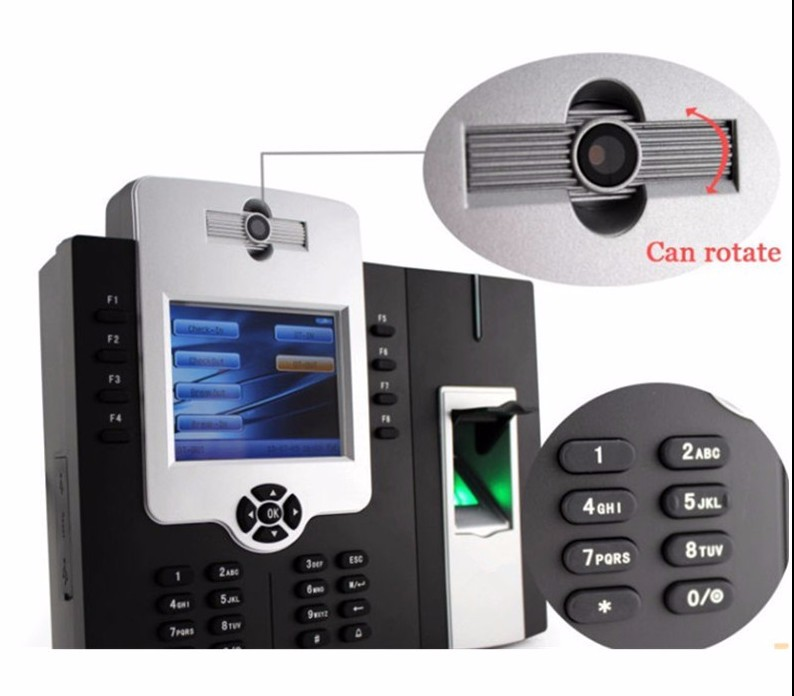 Биометрия отпечатков пальцев рабочего времени и система контроля доступа/RFID функцию/Wiegand вход и выход (iClock880)