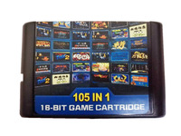 105 In 1 For Sega Megadrive Genesis Game Cartridge With Contra Streets Of Rage Sonic Golden