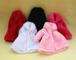 12 Colors High Quality Fashion Handmade Clothes Dresses Grows Outfit Flannel coat for Barbie Doll dress for girls best gift