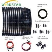 10 шт. моно 100 Вт солнечные панели модули с MC4 разъемы и кабели Ho использовать вне сетки 1000 Вт солнечной системы Factort цена