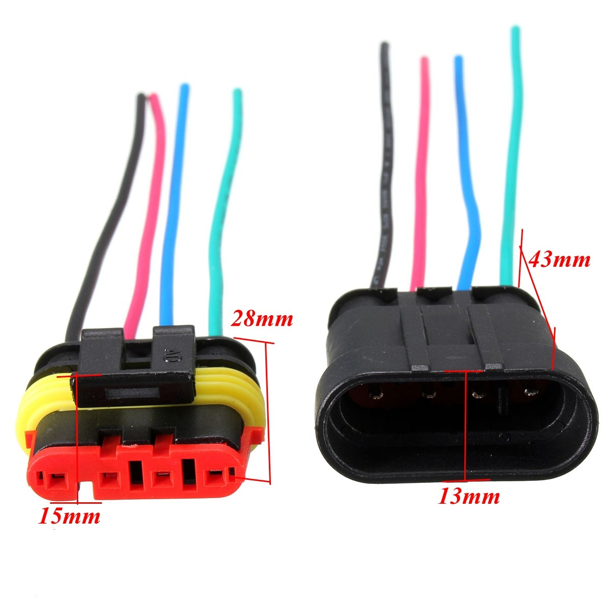 1 Set 2 3 4 5 6 Pin Car Motorcycles Waterproof Electrical Way Auto Wire Harness Connector View Plug W 10cm Male Female In Cables Adapters Sockets From