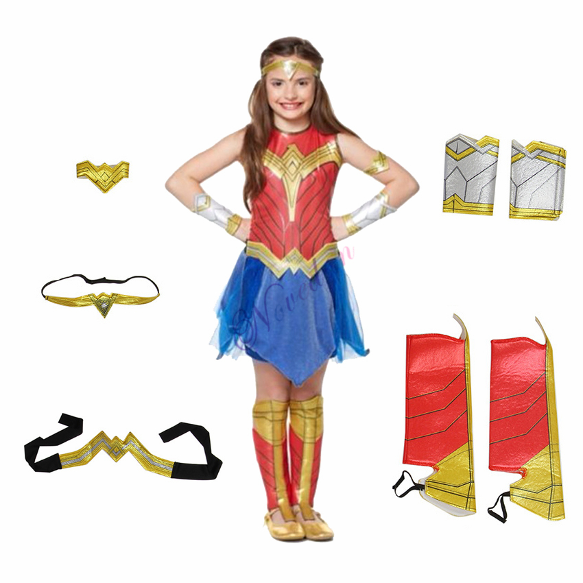 Child Dawn Of Justice Wonder Woman Costume Kids Girls Fancy Dress Disguise Halloween Party Supergirl Cosplay