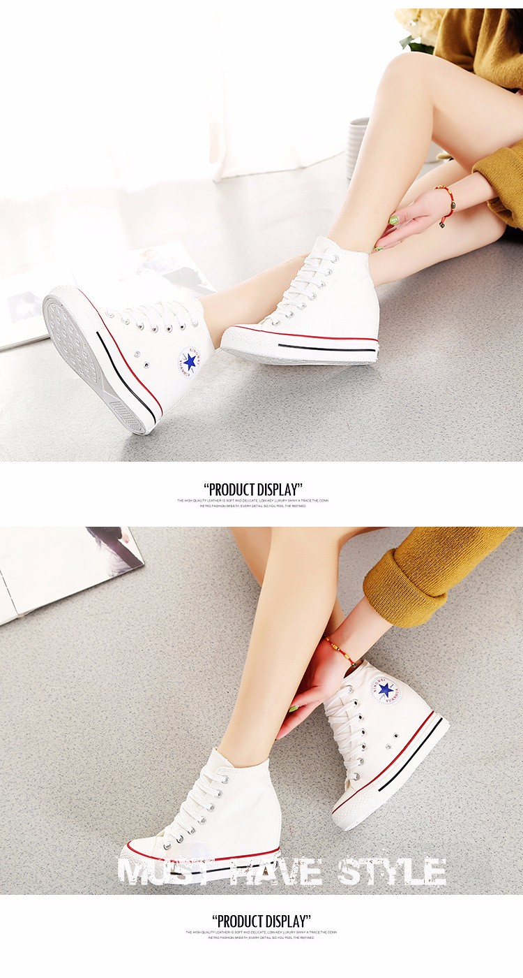 KUYUPP High Top Canvas Women Shoes Espadrilles Spring Autumn Womens Wedges Shoes Lace Up Casual Shoes For Female Sapatilha YD120 (15)